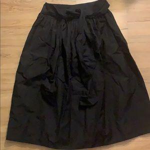 Kate spade black bow tie puffy skirt